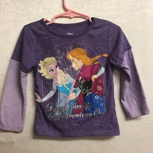 Girls Disney Frozen Keep Calm Shirt Size 2T
